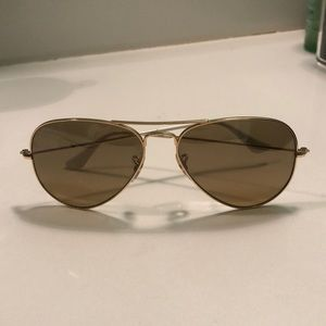 Authentic Gold Ray Ban Sunglasses Aviators